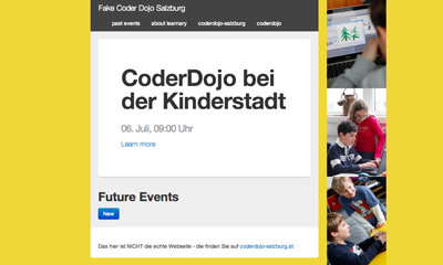 learnery with theme coderdojo